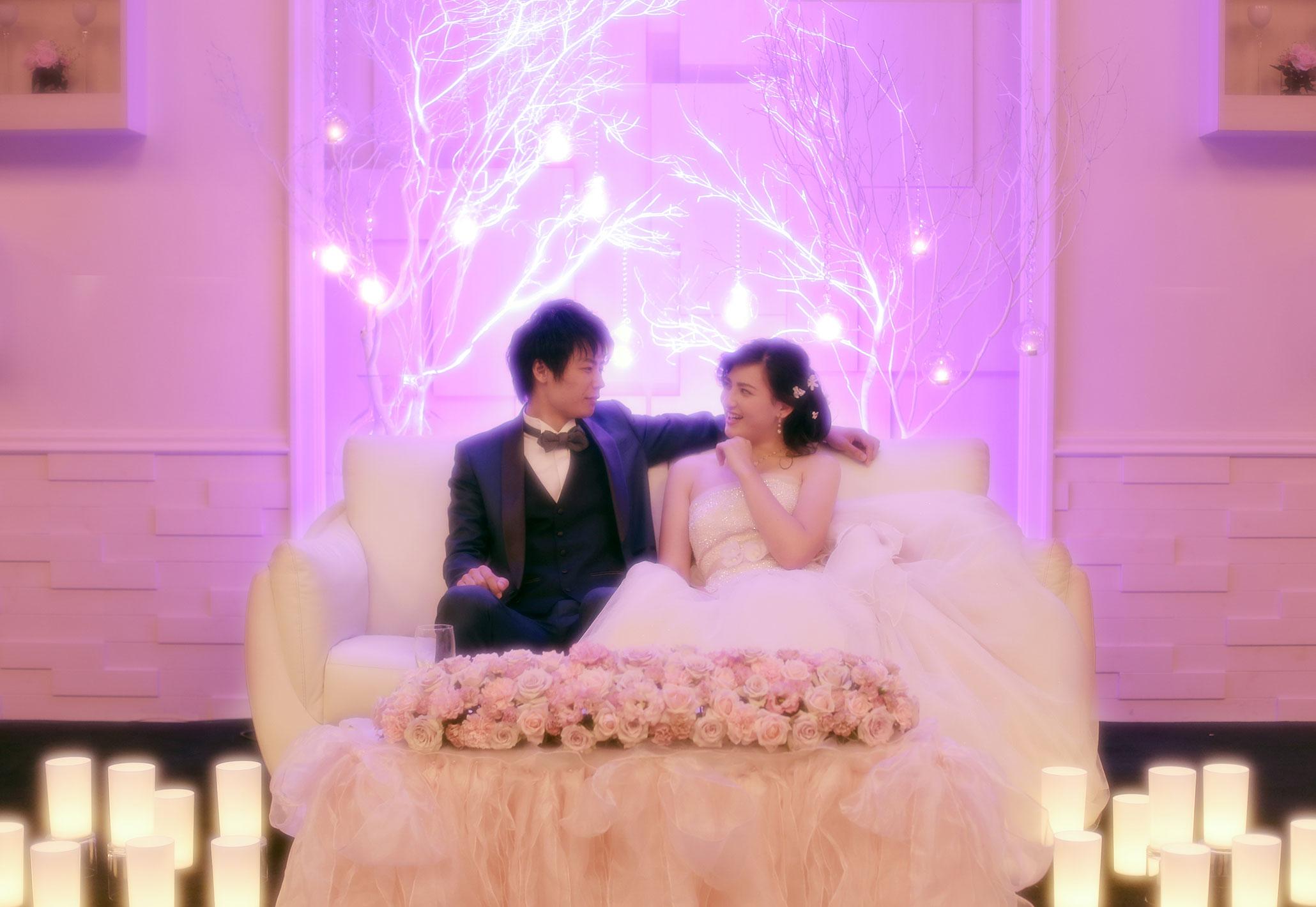 イルミネーションに包まれた幻想的な二人だけの空間|愛媛県松山市の結婚式場ベルフォーレ松山