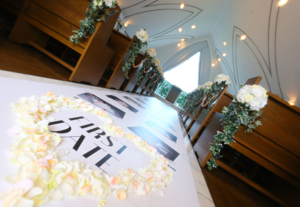 バージンロードには生まれた瞬間からの家族の思い出が|愛媛県松山市の結婚式場ベルフォーレ松山