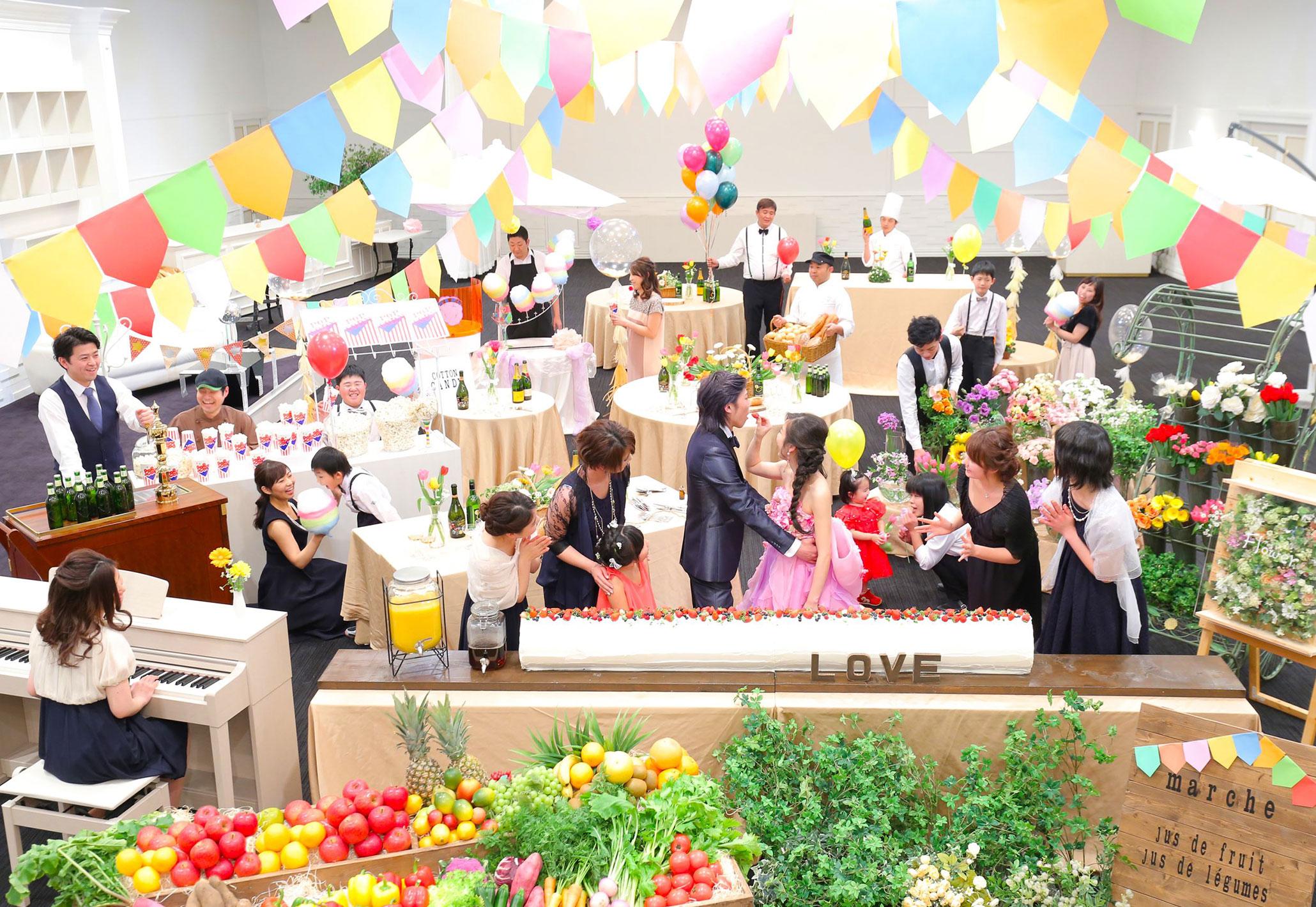 カーニバルを思わせるワンシーン|愛媛県松山市の結婚式場ベルフォーレ松山