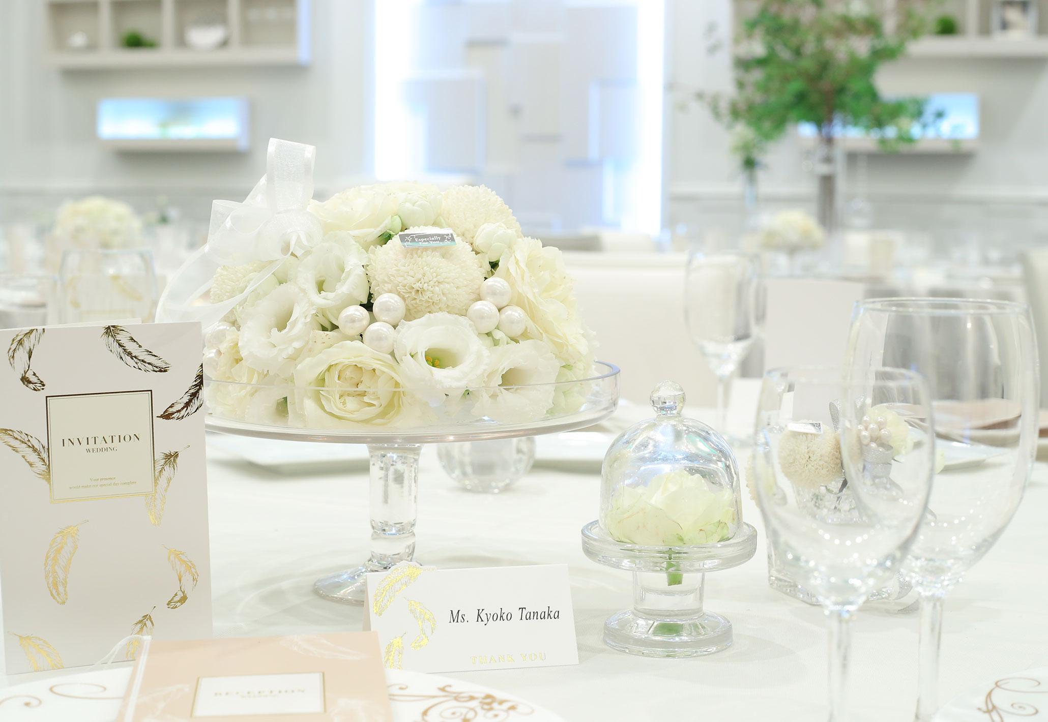 清楚で上品なホワイトコーデ|愛媛県松山市の結婚式場ベルフォーレ松山