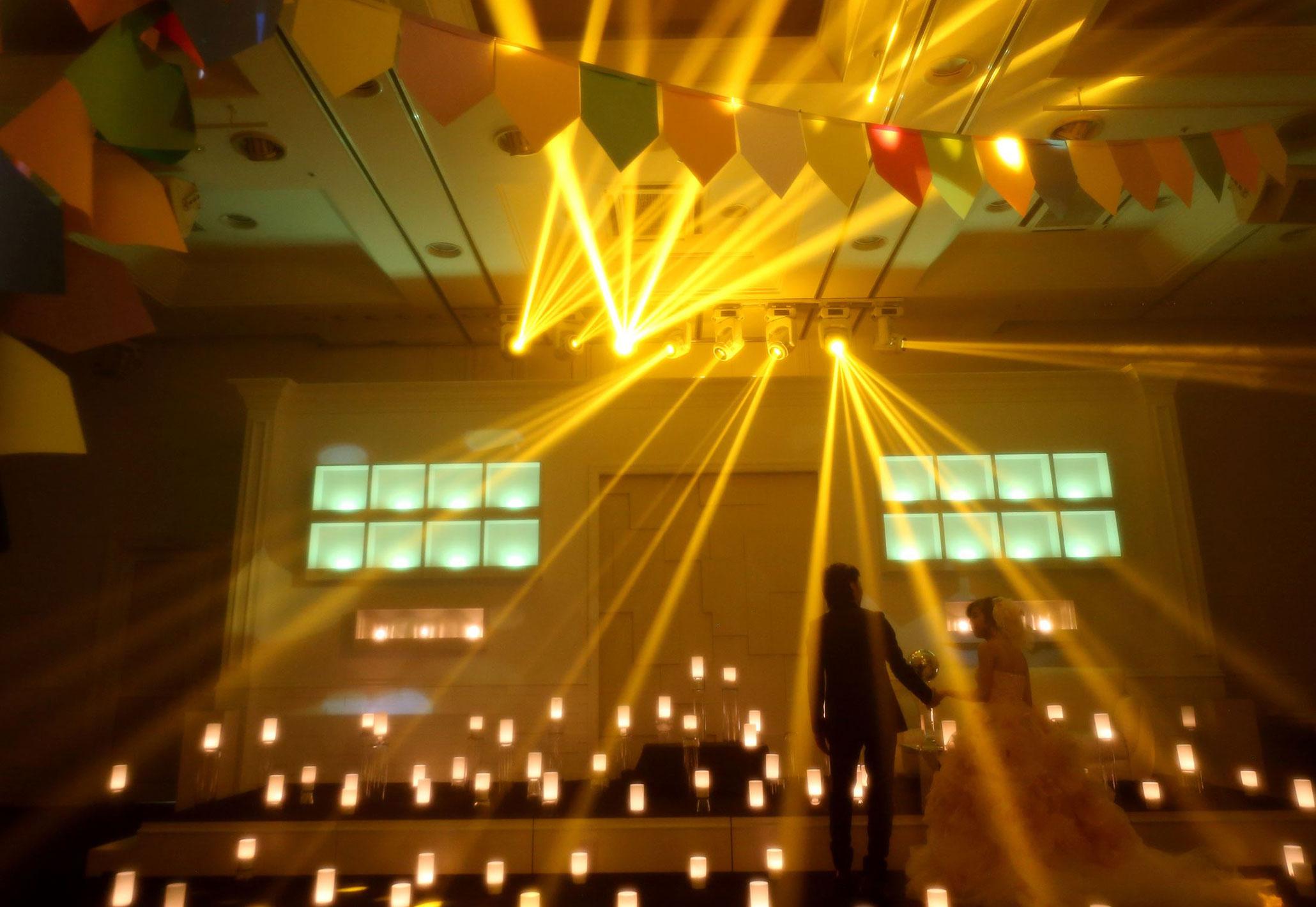 多彩な光の演出|愛媛県松山市の結婚式場ベルフォーレ松山