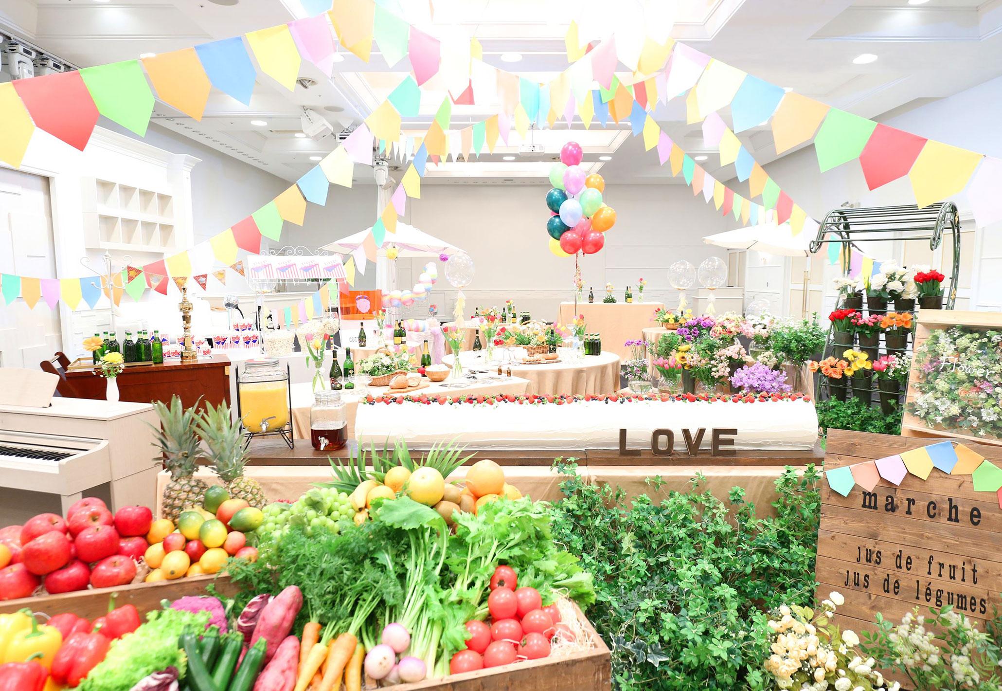 マルシェのような空間|愛媛県松山市の結婚式場ベルフォーレ松山