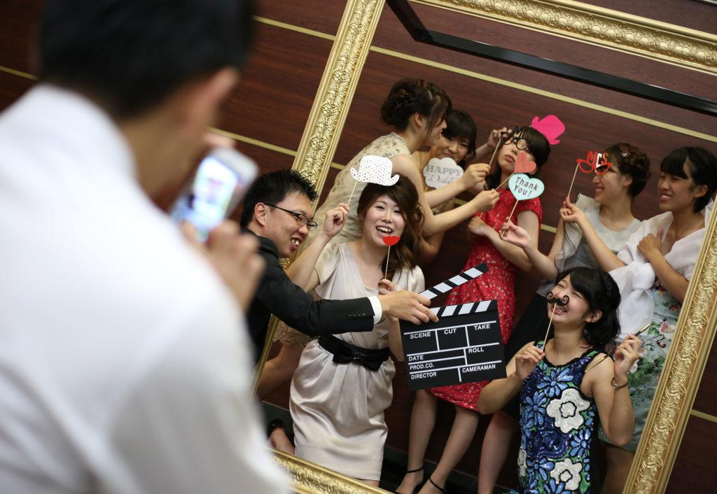 ゲストとフォトスポットで楽しもう|愛媛県松山市の結婚式場ベルフォーレ松山