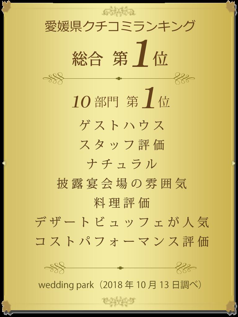口コミサイト愛媛ランキング第1位バナー